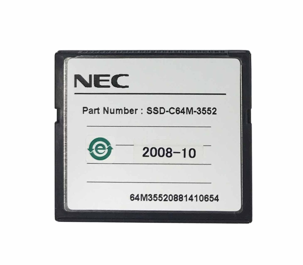 "NEC - IP1E-CF-A1 - COMPACT FLASH CARD 16 CH VRS/AA FOR TOPAZ, USED WITH ""IP1WW-DSPDB-B1"" CARD."