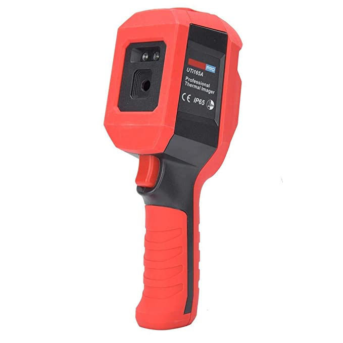 Infrared Thermal Imager High-precision Hand-held Human Body Temperature Measurement Tool, High Temperature Alarm, 2.8 inch TFT screen, 160x120 Resolution, Temperature range 30°~40°, 1 Mtr Optimal measuring distance, USB interface charging, Tripod mounting hole, Thermal imaging fusion, Digital Camera Image mode.