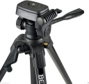 BENRO - BE.T600EX - 3-Way Head Aluminium Triop, Lightweight (Black), Video Tilt head, Max Load 3 kg, Max Height 143.50 cm.