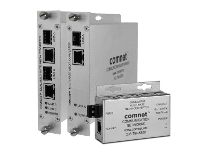 Comnet - CNMCSFPPOE/M - Media Converter Mini, 1 x port RJ-45 10/100/1000Mbps PoE+ IEEE 802.3at 30W, 1 x port SFP Support 100/1000Mbps. (SFP Sold Separately).
