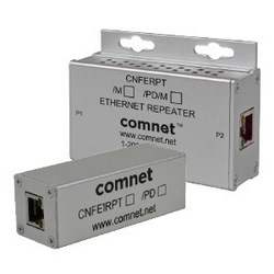Comnet - CNFE1RPT - 1 Channel 10/100 Mbps Ethernet Repeater With 60W Pass-Through PoE.