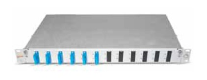 Datwyler Cables - ‎417305 - FO Patch Panel OV-A 6 SCD, Including 12 SC Adapters & Pigtails 2 Mtr, G50/125 OM2.