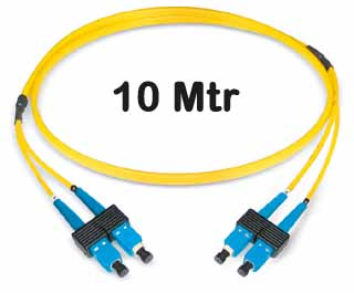 Datwyler Cables - 421120 - ‎FO Patch Cord SCD:SCD E9/125, 10 Mtrs, Oval, Halogen free, Yellow.