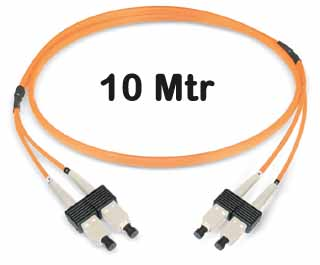 Datwyler Cables - 421160 - ‎FO Patch Cord SCD:SCD OM2, 10 Mtrs, Oval, Halogen free, Orange.
