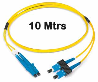Datwyler Cables - 421320 - FO Patch Cord SCD:LCD E9/125, 10 Mtrs, Oval, Halogen free, Yellow.