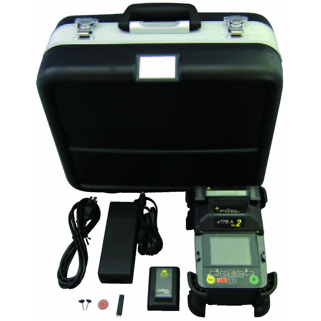 FITEL Furukawa Electric - S178A-22 V2 - Core Alignment Fusion Splicer (10mm Tight Holders) Standard Kit, Contents: S178 Splicer Main Body, Tight Holders for 10mm Cleave Length, V-Groove Cleaning Brush, Spare Electrodes for S178, Electrode Sharpener, Hard Carrying,Battery for S178 X 2, AC Adaptor for S178, TCC-01 Tool Case, S326A Hand Held Cleaver, S211B Tri Hole Stripper, S178A User's Manual.