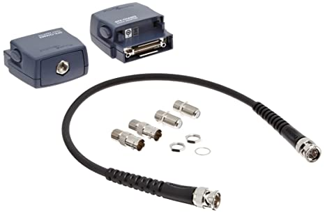 Fluke Networks - DSX-COAX - DSX Coaxial Adapter Set of (2) Coax Adapters for DSX-5000 CableAnalyzer, with (2) F-to-BNC connector adapters, (2) F-to-F connector adapters, and 12-inch RG59 cable for Set Reference.