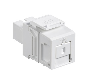Leviton - 41085-MWC - QuickPort Multimode Simplex SC Adapter Module, Phosphor Bronze Sleeve, White.