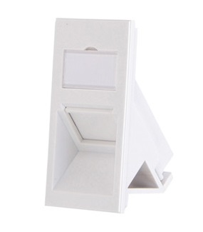 Leviton - LI150-AW1 - Bezel BS STYLE Insert 25x50mm, 1-Port, Angled with Shutter/window, white.