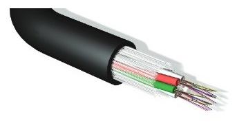 Leviton - EF008S24WRRLUHF3 - FO Cable OSP, Rodent Resist MLT - 2 Element 2x12 Universal LSF/OH IEC 332.3 Sheathed- OS2 / 24 Fibre Cable.