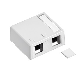 Leviton - 41089-2WP - 2-Ports Surface Mount Box, PLENUM White.