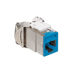 Leviton - 6ASJK-RL6 - Atlas-X1 Cat6A Shielded QuickPort Module Jack, Component-Rated, Blue.
