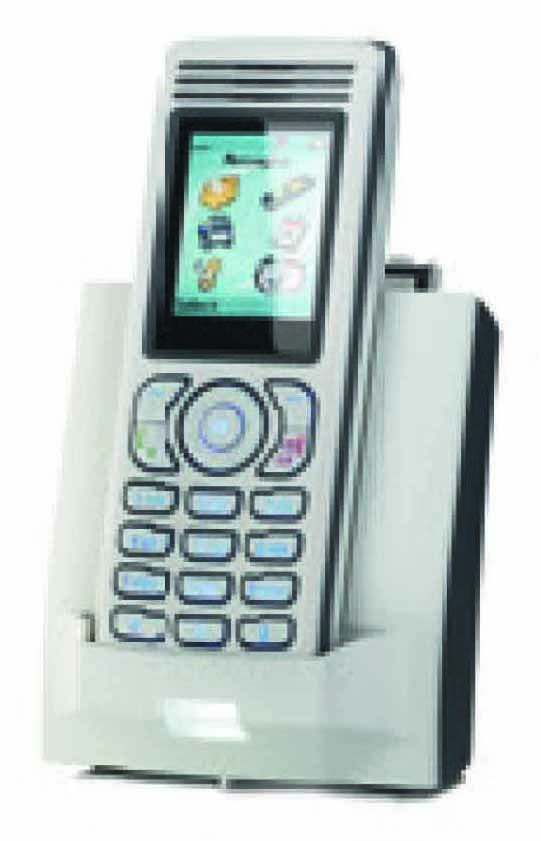 NEC - 9600 015 84100 - I755s IP DECT Handset, Silver, dust & drip proof (IP54), swappable batteries, DECT Messaging (LRMS protocol) and a Bleutooth headset.