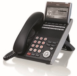 NEC - BE111485 - ITL-12DG-3P(BK) - DT730 IP PHONE Gbit 12 BUTTON B&W DISPLAY (BLACK).