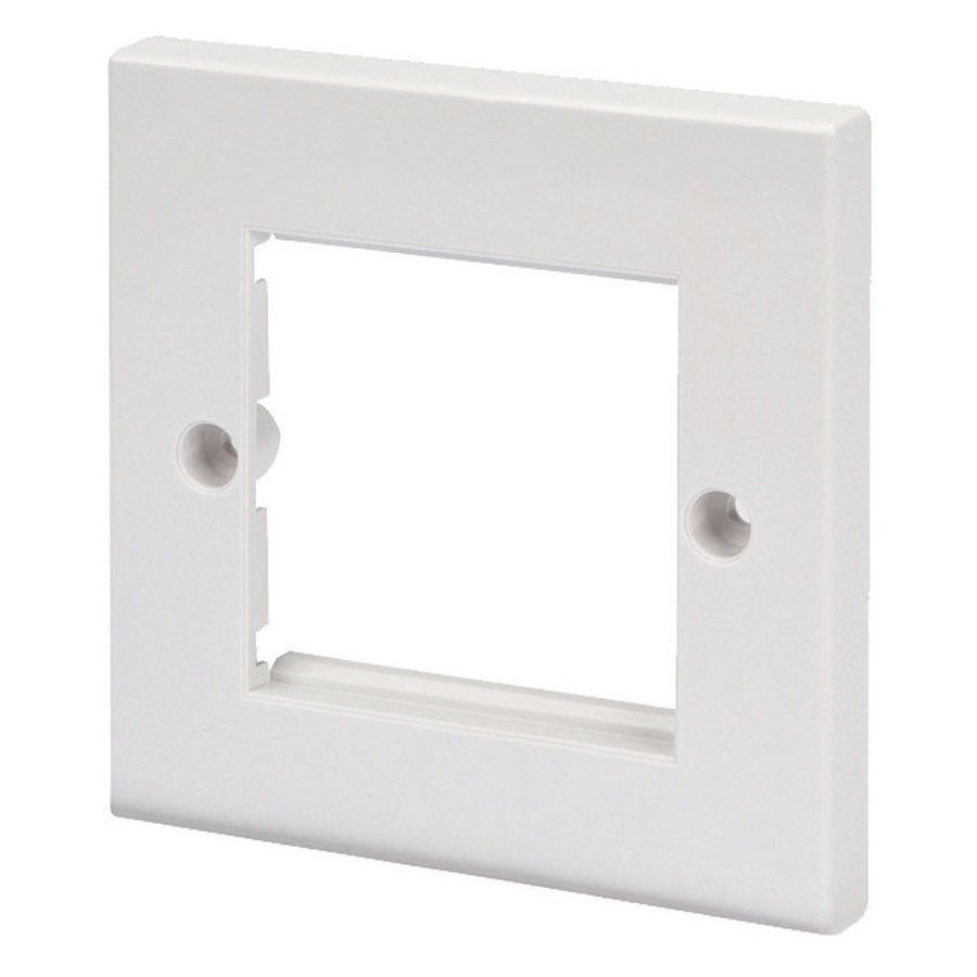 Ultima - 772350 - Flat Faceplate Single Gang 2x Euro White (H)86mmx(W)86mm.