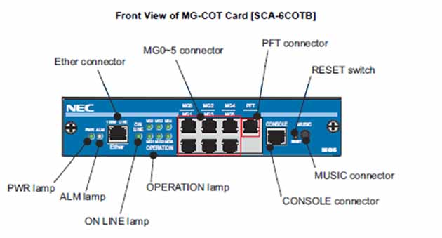NEC - BE105883 - SCA-6COTB 6 Port Analog Trunk Card, MG(COT) Media Gateway.