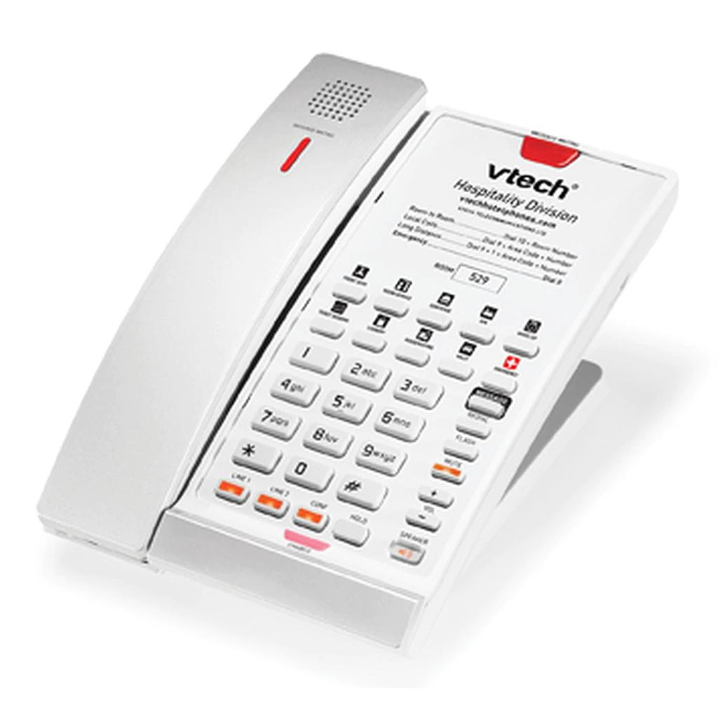 Vtech S2421, 2-Line, SIP Cordless Speakerphone, 10 Speed Dial Keys, Silver & Pearl, Anti bacterial plastic.