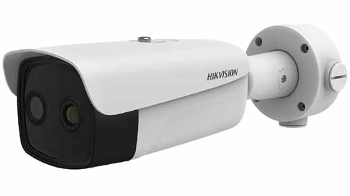 Hikvision - DS-2TD2636B-10/P - Temperature Screening Thermographic Thermal & Optical Bi-spectrum Network Bullet Camera, Thermal Resolution 384 x 288, Lens 9.7mm.
