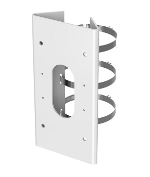Hikvision - DS-1475ZJ-SUS - Vertical pole mount, Hik white Stainless Steel.
