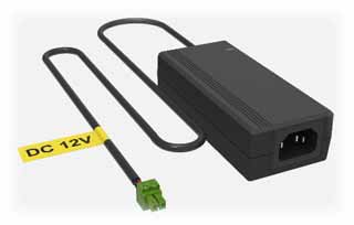 Hikvision - KPL-040F-VI - 12V 3.33A Power Adaptor 40W Green-Head Two Wires. Prod. Code 101700613.