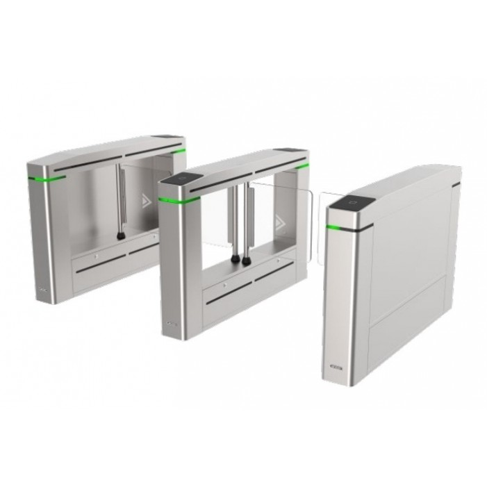 Hikvision - DS-K3B601-R/MPG-DP75 - Turnstile Middle Barrier Aisle width:750mm, Barrier Material Acrylic glass, Two-way Mifare Card & Face, 1-Year Standard Warranty.