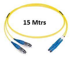 [1414768] Datwyler Cables - 1414768 - FO ‎Patch Cord LCD:(FC/PC) E9/125, 15 Mtr, Oval, Halogen free, Yellow.