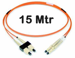 [1420499] Datwyler Cables - 1420499 - ‎FO Patch Cord SCD:LCD OM2, 15 Mtrs, Oval, Halogen free, Orange.