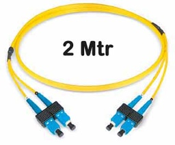 [421112] Datwyler Cables - 421112 - ‎FO Patch Cord SCD:SCD E9/125, 2 Mtrs, Oval, Halogen free, Yellow.