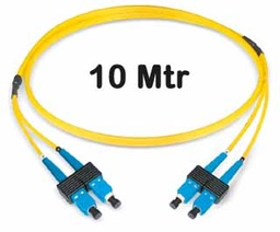 [421120] Datwyler Cables - 421120 - ‎FO Patch Cord SCD:SCD E9/125, 10 Mtrs, Oval, Halogen free, Yellow.