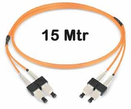 [309281] ‎Datwyler Cables - 309281 - FO Patch Cord SCD:SCD OM2, 15 Mtrs, Oval, Halogen free, Orange.