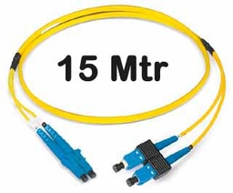 [309285] ‎Datwyler Cables - 309285 - FO Patch Cord SCD:LCD E9/125, 15 Mtrs, Oval, Halogen free, Yellow.