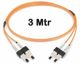 [421153] Datwyler Cables - 421153 - ‎FO Patch Cord SCD:SCD OM2, 3 Mtrs, Oval, Halogen free, Orange.