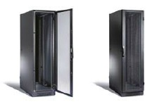 [4000610] Datwyler Cables - 4000610 - 42U Floor standing Server cabinet 800 x 1000mm with accessories (1x6way PDU, 2pcs Vertical Cable Manager & 2pcs shelves) Front & Rear perforated door, Black.