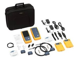 [DSX-5000 INTL] Fluke Networks - DSX-5000 INTL - 1 GHZ DSX CABLE ANALYZER 1 x Versiv Mainframe & Remote, 2 x DSX-5000 CableAnalyzer Modules, Set of CAT6A/Class EA Permanent Link Adaptors, Set of CAT6A/Class EA Channel Adaptors, 2 x Headsets, (2) HandStrap, (2) Shoulder Straps, Carry Case.