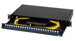 "[FPSLSCSX0241B] Opterna - FPSLSCSX0241B - 19"" Unloaded 1U Sliding Patch Panel 24 SC Simplex or (LC Duplex) Ports, Black."