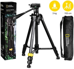 [V2.NGPH001] National Geographic - NGPH001 - Aluminum Tripod With 3Way Pan Head.