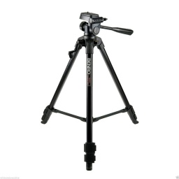 [BE.T600EX] BENRO - T600EX - 3-Way Head Aluminium Tripod, Lightweight (Black), Video Tilt head, Max Load 3 kg, Height (55~144) cm.