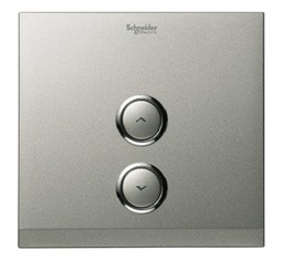 "[UC21DMXBS] Schneider Electric - UC21DMXBS - 1 Gang ""EZinstall"" Dimmer Cover Plate, Brushed Silver."